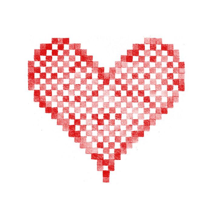 Cœur brodé alsacien 1