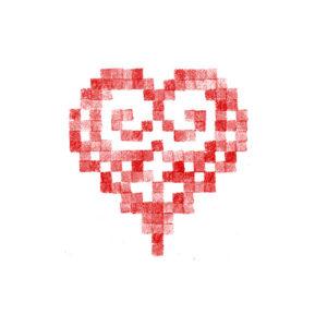 Cœur brodé alsacien 8