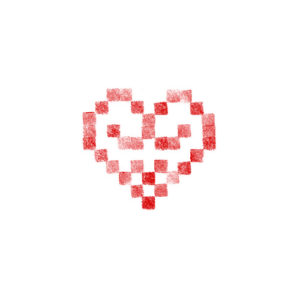 Cœur brodé alsacien 10