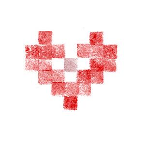 Cœur brodé alsacien 11